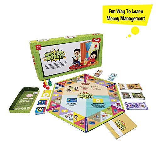 Toiing Mind Your Money - Fun Learning Board Game on Money Management & Savings for Kids (8 Year olds & Above)
