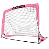 Franklin Sports Blackhawk Portable Soccer Goal - Pop-Up Soccer Goal and Net - Indoor or Outdoor Soccer Goal - 4'x3' - Pink (31559X)