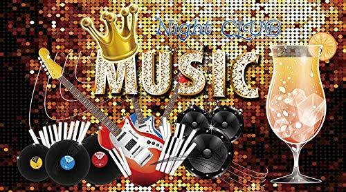 Papel Pintado 3D Mosaico Del Alfabeto De Instrumentos Musicales Fotomurale 3D Tv Telón De Fondo Pared Decorativos Murales Moderna