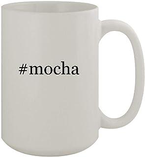 #mocha - 15oz Ceramic White Coffee Mug, White