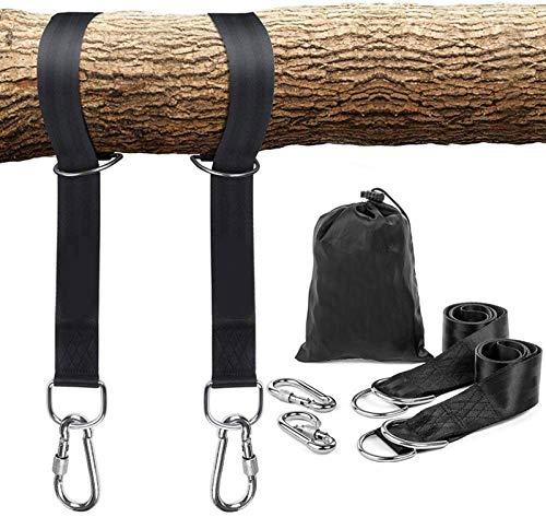 DZC Correas de Hamaca al Aire Libre, gatoría de colgaje de árboles Correas Ganchos Safer Lock Snap Mosquetner Ganchos, para Columpios hamacas (1 Juego con 2pcs),5cm*2m