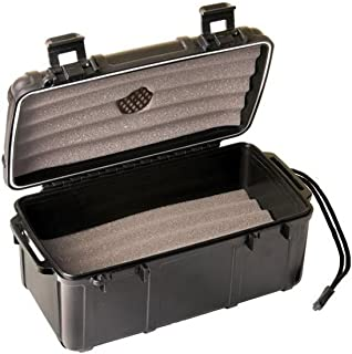 Fess F15 Black Travel Cigar Humidor Waterproof Holder Case for up to 10-15 Cigars