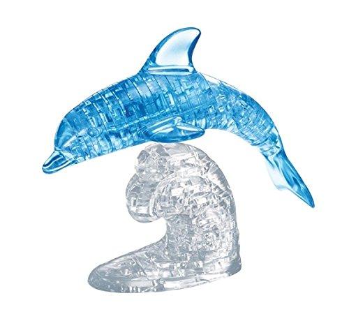 HCM Kinzel GmbH 59115 59115-Puzzle 3D Crystal Delfin blau 100 Teile