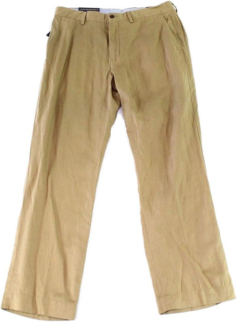 Polo Ralph Lauren Mens Solid Classic Fit Khaki Pants