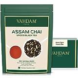 VAHDAM, Assam Spiced Masala Chai Tea | (100 tazas) | ESPECIAS 100% NATURALES | Té Assam, Cardamomo, Canela, Clavo, Pimienta Negra | Hojas de té chai con especias de la India | 100g (Set of 2)