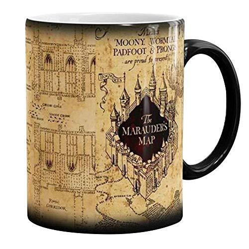LAVALINK Tasse Chaude Chute VIP Harry Boisson Chaude Coupe Changement de Couleur Tasse Potter Marauders Carte Méfait Cadeaux vin Tasse de thé