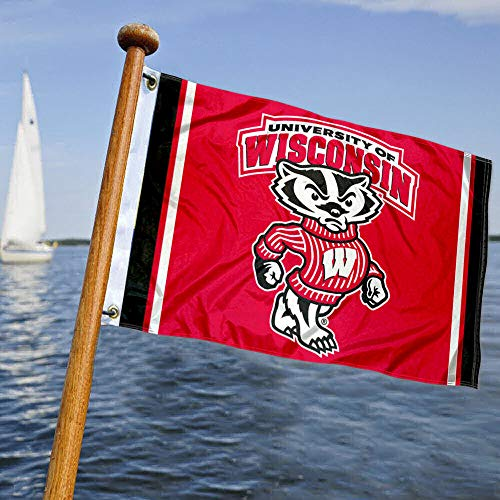 College Flags & Banners Co. UW Badgers Boat and Nautical Flag
