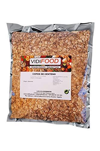 Flocons de Seigle - 1kg - Céréales Naturelles au son Nutritif - Grains de seigle Bienveillants et Végétaliens - Riche en Fibres et Meilleurs Flocons de Seigle Nourrissants
