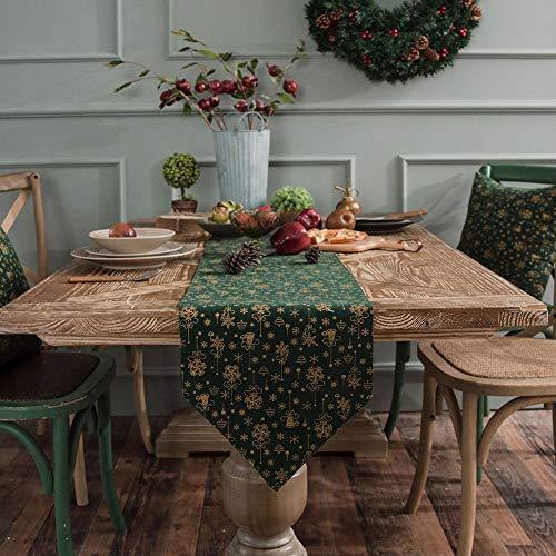 Lwieui Camino de Mesa Flores Bordadas de Lino de algodón arpillera Corredores de Mesa for la decoración de la Mesa de Comedor decoración del hogar (Color : Red, Size : 30x140cm)