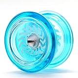 YoyoFactory Arrow Yoyo - Azul (De Principiante a Profesional, Yo-Yo con Rodamientos de Bolas Extra,Cuerda e Instrucciones)