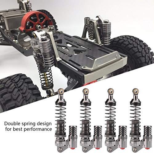 4 Stücke RC Stoßdämpfer, Aluminiumlegierung Hochfeste Federn Schocks Set Dämpfer für Axial / SCX10 / D90 / TRX-4 RC Crawler Auto