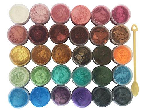 30Color Pigmente Shimmer Mica Puder–DIY Seife zu, Kerze, Kunstharz Farbstoff zu, Mica Puder Bio-für Seife Formen–Bath Bomb Dye COLORANT