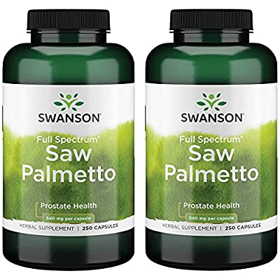 Swanson Saw Palmetto Herbal Supplement for Men Prostate Health Hair Supplement Urinary Health 540 mg 250 Capsules (2 Pack) from Swanson Premium