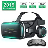 Pansonite Vr Headset with Remote Controller[New Version], 3D Glasses Virtual Reality Headset for VR Games & 3D Movies,...