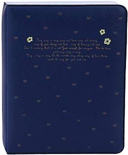 Bernice Winifred Album 1PC 64 Bolsillos desplegable del álbum de Fotos Imágenes Caso contenedores para Fujifilm Instax Mini 8 Caso Álbum de Fotos Instax Mini Disco Azul Marino
