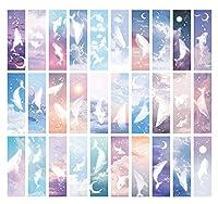 moin moin しおり ブックマーク ブックマーカー いるか 鯨 くじら シャチ 幻想的 月 星 水彩 美麗 メッセージカードとしても 30枚セット