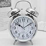 SuperKart Twin Bell Table Alarm for Heavy Sleepers Wind-Up Clock with Night Led