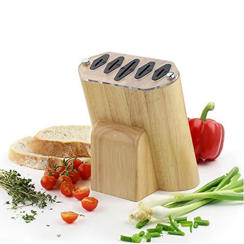 Rockingham smeden mes Mes Blok Knife Block Rubber Wood