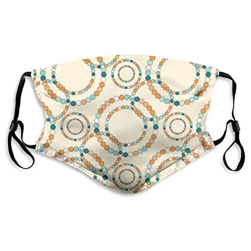 Wiederverwendbare Staub-Gesichtsmaske mit 2 Filtern, farbige Kreise, schützend, verstellbar für Laufen, Radfahren, Outdoor-Aktivitäten