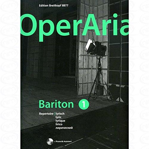 OperAria 1 - arrangiert für Gesang - Mittlere Stimme (mezzo / Medium Voice) - (Bariton) - Klavier - mit CD [Noten/Sheetmusic]