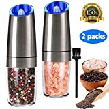 Gravity Electric Salt and Pepper Grinder Set, Automatic Pepper and Salt Mill...