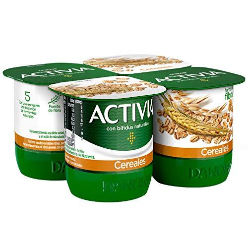 Activia Fibras Cereales 4x120 g