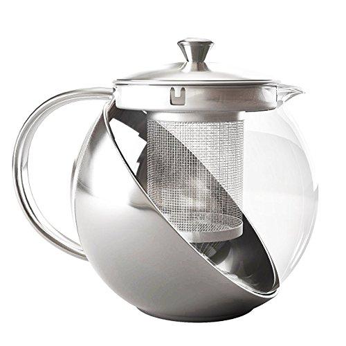Bule Para Chá Em Vidro e Inox Com Infusor 700ML 5507KH