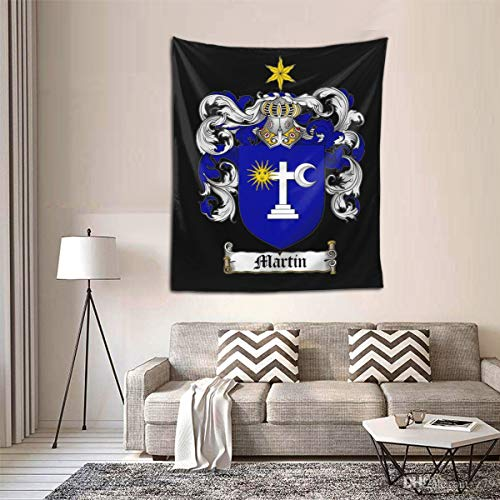 ANNBITION Tapestry Funny Martin Coat of Arms Stein Martin Crest Wall Hanging Home Decor for Living Room Bedroom Dorm Room 60 H X 51 W Inches