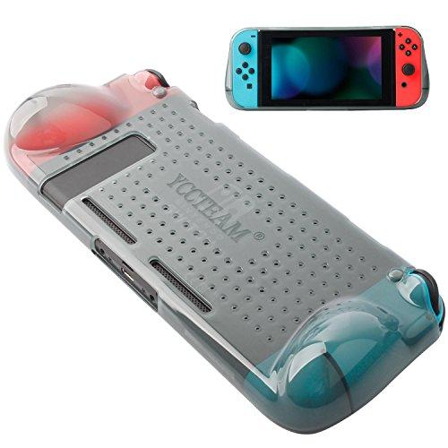 Airmate Schutzhülle für Nintendo Schalter 2018, Grip Schutzhülle mit Dämpfung und kratzfestem Design Weich und bequem TPU Schutzhülle für Nintendo Switch Konsole grau grau