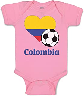 Custom Baby Bodysuit Colombian Soccer Colombia Football Funny Boy & Girl Clothes