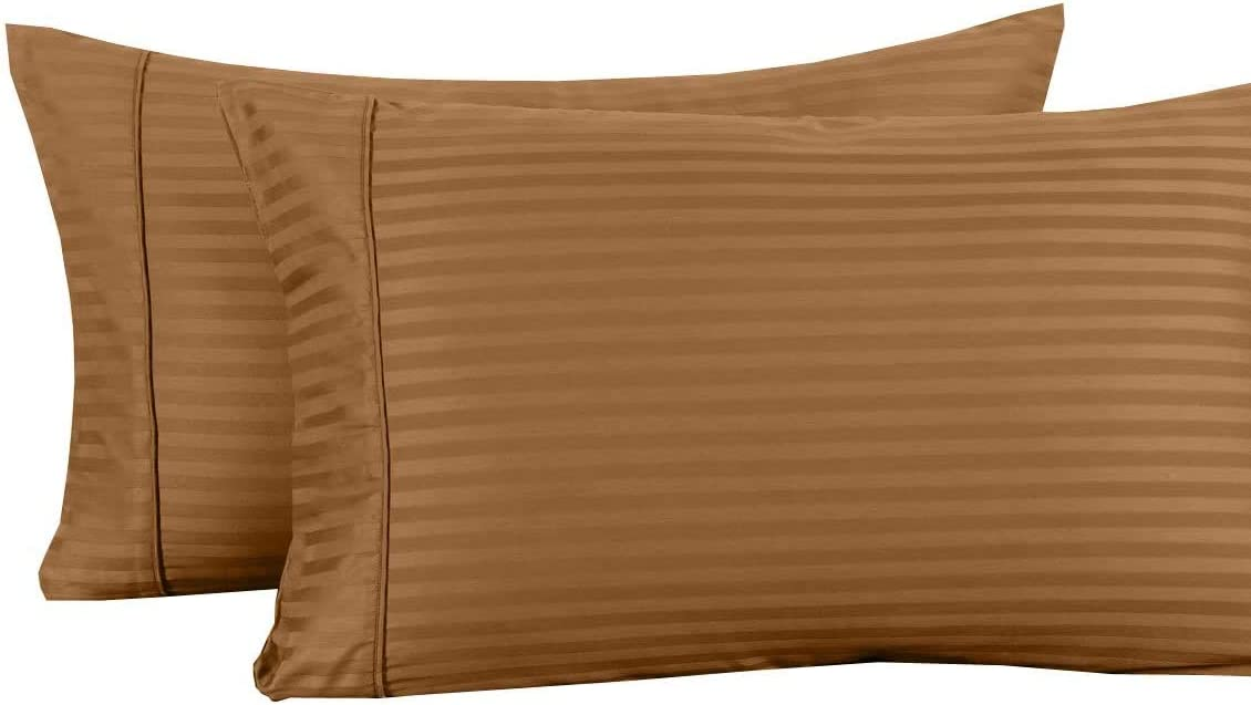 Damask Striped 600-Thread-Count 100-Percent Sheets Cotton S Selling and Ranking TOP20 selling Bed