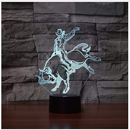 7 Farben Ändern 3D Led Acryl Stierkampf Nachtlicht Schlafzimmer Atmosphäre Spanische Stierkämpfer Tischlampe Beleuchtung Dekor s Licht Box Kindertagsgeschenke