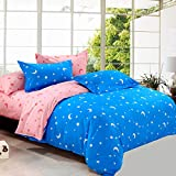 BFMBCH Hotel Student Schlafsaal Bettwäsche Haut Baumwolle Bettlaken einzigen Kissenbezug vierteilige K1 150cmx200cm