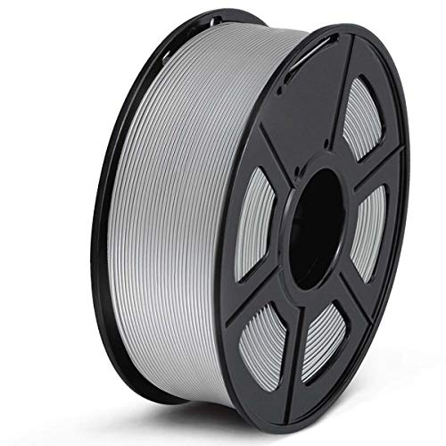 SUNLU Filamento PLA 1.75, Stampante 3D PLA Filamento 1kg Spool Tolleranza del diametro +/- 0,02 mm,PLA Grigio