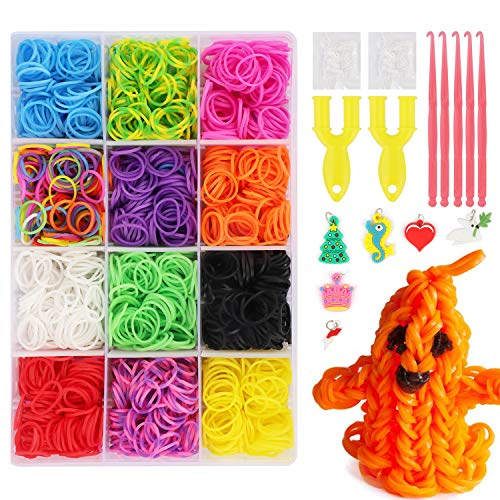 JWTOYZ Loom Bänder Set Box, Loom Bänder Set Rainbow Gummibänder (Small)