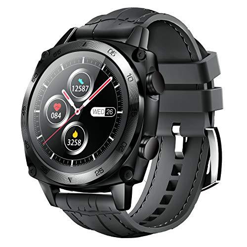 CUBOT Reloj inteligente con pantalla táctil de 1,3 pulgadas, reloj de pulsera de negocios, resistente al agua hasta 5 ATM, podómetro, para iOS/Android, para hombre, color gris