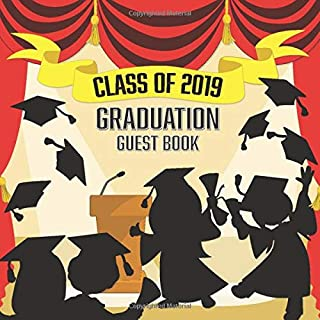 Graduation Guest Book: Card Style Message and Advice with Memory Jar + Bonus Scrapbooking Pages | Keepsake for Graduate | Red Gold Commencement Ceremony