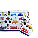 Car and Truck Party Supplies Tablecover 2 Pack Plastic Tablecloth Covers for Kids Boys Birthday Traffic Car Constructions Party Decorations 70x42 inch