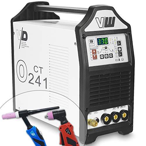WIG Schweißgerät mit Elektrodenschweißfunktion und Plasmaschneider - Pulsfunktion - 2 und 4 Takt - Jobspeicher für Schweißparameter - digitales Anzeigendisplay von Vector Welding