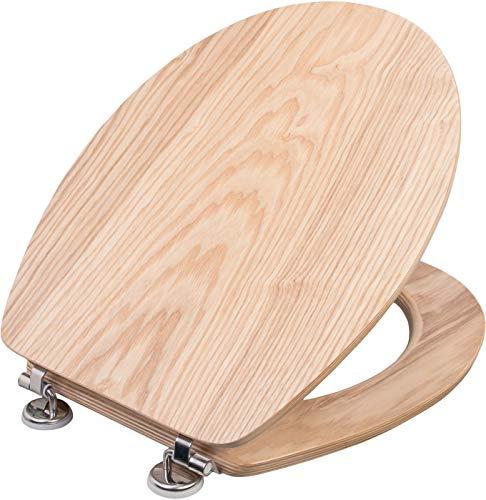 "Cornat WC-Sitz \""Ligna\"" - Hochwertiges Echtholz - Eiche - Komfortables Sitzgefühl - Edle Holz-Optik passt in jedes Badezimmer / Toilettensitz / Klodeckel / KSLIGE"