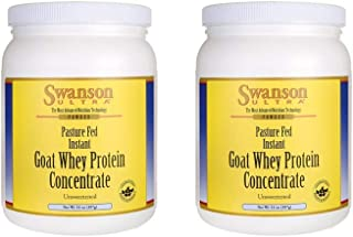 Swanson Goat Whey Protein Concentrate 14 oz Pwdr 2 Pack
