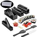 Kit Sushi Maki Complet, Cuisine Machine Sushi Maker 12 Pièces Compatible Avec Riz Japonai...
