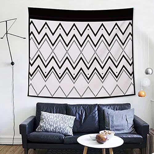 Schwarzer und weißer Linien einfacher Wandteppich Moderne Mode einfaches dekoratives Tuch Hauptteppich Wohnzimmerdekoration