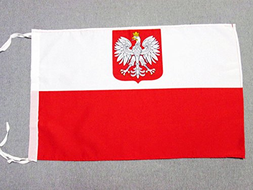AZ FLAG Bandera de Polonia con Aguila 45x30cm - BANDERINA