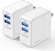 Maxboost (Pack of 2) USB Wall Charger 24W 4.8A for Apple iPhone Xs Max XR X iPhone 8 7 6s 6 Plus, SE, iPad Pro/Mini/Air, Galaxy s9 s8 s7,Note 9,HTC,LG,Nintendo Switch[mSmart Technology Foldable Plug]