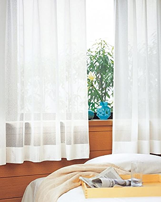 中庭リップおばさん東リ 合わせやすい無地調デザイン フラットカーテン1.3倍ヒダ KSA60488 幅:250cm ×丈:160cm (2枚組)オーダーカーテン