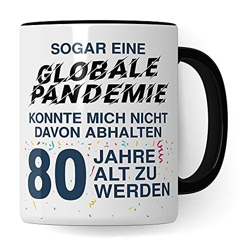 80. Geburtstag Männer Tasse, Geschenk 80 Geburtstag Mann, Becher 80 Jahre alt Werden Spruch Kaffeebecher Geschenkidee, Kaffeetasse 1941 Jahrgang Geburtstagsgeschenk Opa Witz 2021