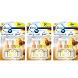3 x Ambi Pur Febreze 3volution Air Freshener Electrical Plug in Refill Gold Orchid Scent 20ml
