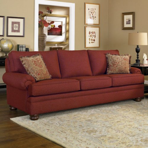 Big Sale Charles Schneider Fischer Crimson Fabric Sofa with Accent Pillows