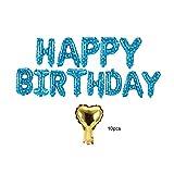 AUNMAS El Feliz cumpleaños hincha Las Letras inglesas Bandera de Aluminio Inflable del Globo con una Cola Inflable para Las Decoraciones del Partido(1#)